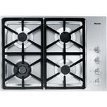Miele Km 3464 Lp Gas Cooktop With A Dual Wok Burner For Particularly Wide Ranging Burner Capacity.