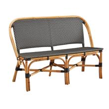 See Details - Black Palley Settee - SOLD IN PAIRS
