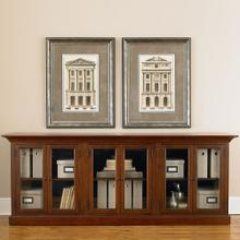Guilford Medium Cherry Triple Display Cabinet