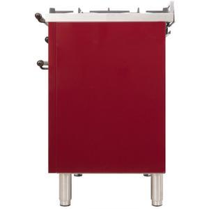 30 Inch Burgundy Dual Fuel Natural Gas Freestanding Range