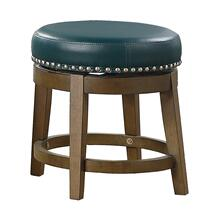 Round Swivel Stool, Green