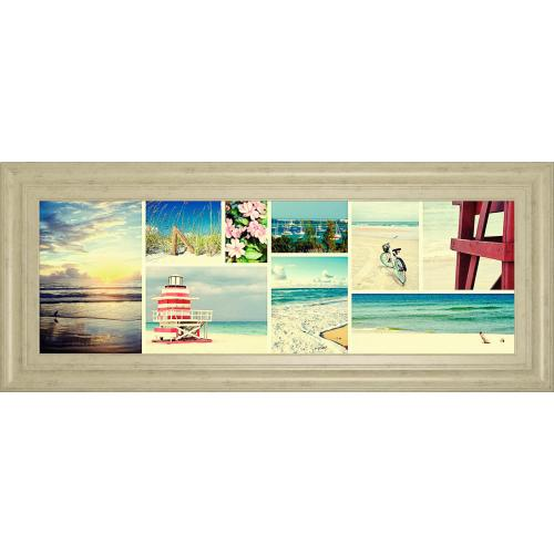 Classy Art - Coastal Collage Panel By Gail Peck