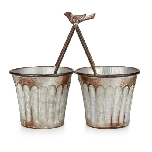 Dianna Metal Double Planters