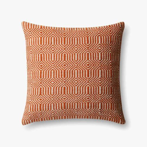P0339 In/out Orange / Ivory Pillow