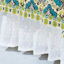 "White Eyelet Bed Skirt (16"" Drop) - Queen"