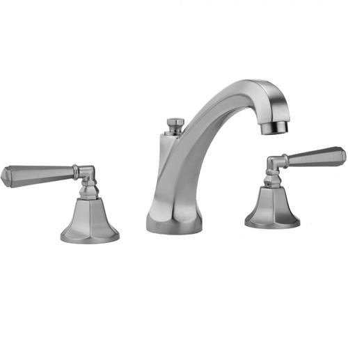 Jaclo - Vintage Bronze - Astor High Profile Faucet with Hex Lever Handles & Fully Polished & Plated Pop-Up Drain