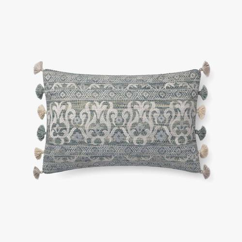 P0684 Aqua / Silver Pillow