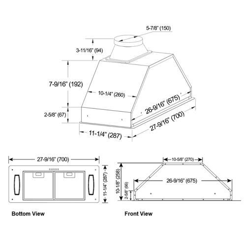 """30"""" Built In / Insert - Brillia INX2830SQH-700-1"""