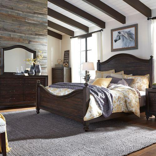 King California Poster Bed, Dresser & Mirror, Night Stand