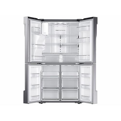 Samsung - 23 cu. ft. Counter Depth 4-Door Flex™ Refrigerator with FlexZone™ in Stainless Steel