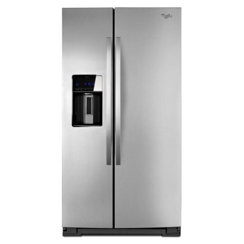 Whirlpool 30 cu. ft. Side-by-Side Refrigerator with MicroEdge shelves, NO WATER OR ICE. (This is a Stock Photo, actual unit (s) appearance may contain cosmetic blemishes. Please call store if you would like actual pictures). This unit carries our 6 month warranty, MANUFACTURER WARRANTY and REBATE NOT VALID with this item. ISI