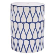 See Details - Wallis Garden Stool - Blue / White