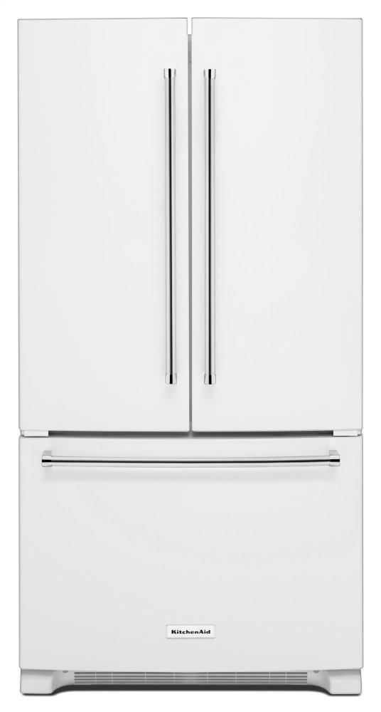 KitchenAid25 Cu. Ft. 36-Width Standard Depth French Door Refrigerator With Interior Dispense - White