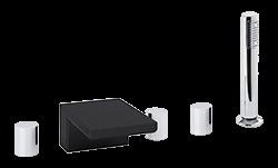 Otella 5-Hole Deck Mount Tub Filler R+S Chrome/Black Product Image