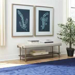 Monterey - Upholstered Bed Bench - Mink Finish