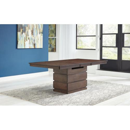 Chesney High-Low Convertible Height Storage Table and 4 Stools
