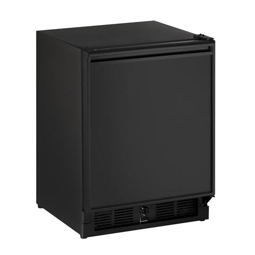 "21"" ADA Solid Door Refrigerator Black Solid Field Reversible"