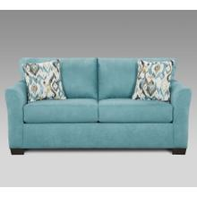 Liverpool Microfiber 2-Seater Loveseat with Pillows, in Sansations Capri Blue