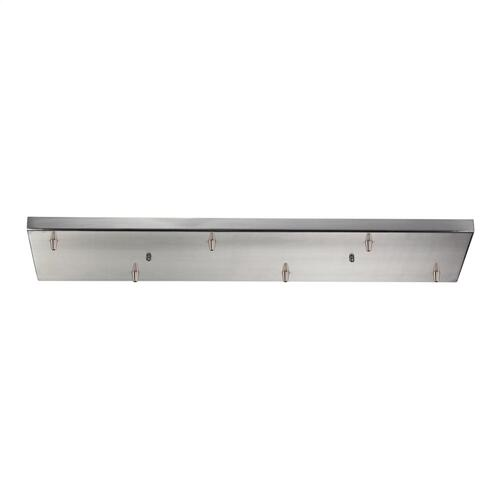 Illuminare Accessories Rectangular Pan for 6 Lights in Satin Nickel