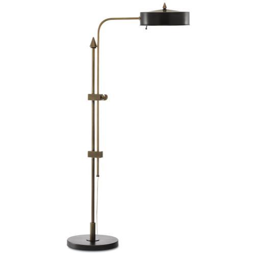 Currey & Company - Abram Brass Floor Lamp