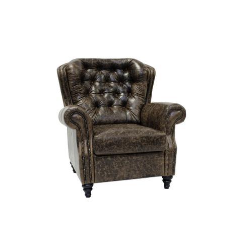 Sitara Chair W/Crackle Cinnamon Leather