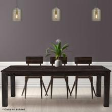 View Product - Hanover Ravenna Mango Wood Dining Table in Dark Brown, 76-In. W x 36-In. D x 30-In. H, HDR001-DKBRN