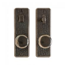 """View Product - Hammered Privacy Set - 2 1/2"""" x 8"""" Silicon Bronze Brushed"""