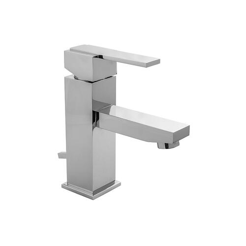 Antique Brass - CUBIX® Single Hole Faucet with Fully Polished & Plated Pop-Up Drain