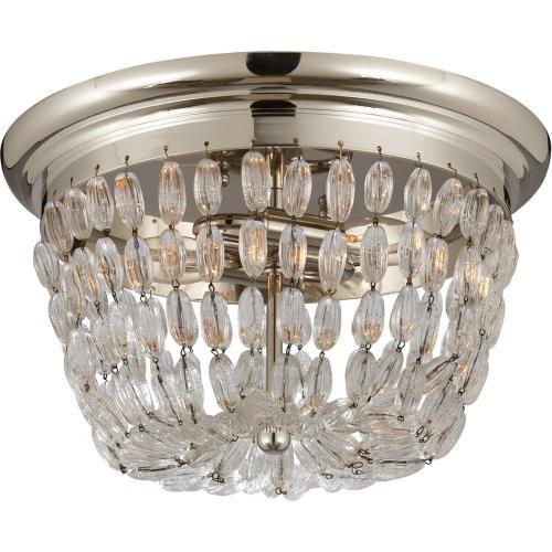 Visual Comfort CHC4207PS-SG E F Chapman Paris Flea Market 2 Light 13 inch Polished Silver Flush Mount Ceiling Light