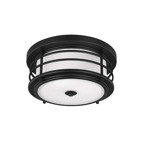 Sauganash Two Light Outdoor Flush Mount Black