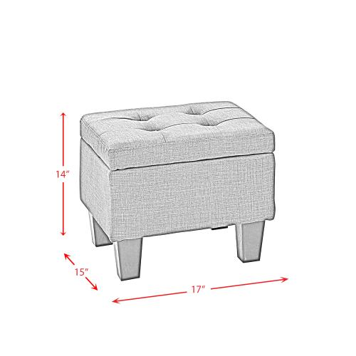 Ethan 3PK Storage Ottoman in Natural