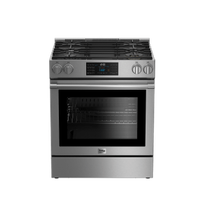 "Beko30"" Stainless Steel Slide-In Gas Range"