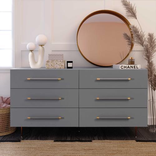 Trident Grey 6 Drawer Dresser