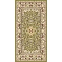 "Persian Design 1 Million Point Heatset Monalisa 5016 Area Rugs by Rug Factory Plus - 2' x 7'5"" / Green"