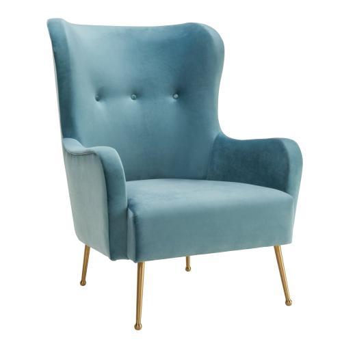 Ethan Sea Blue Velvet Chair