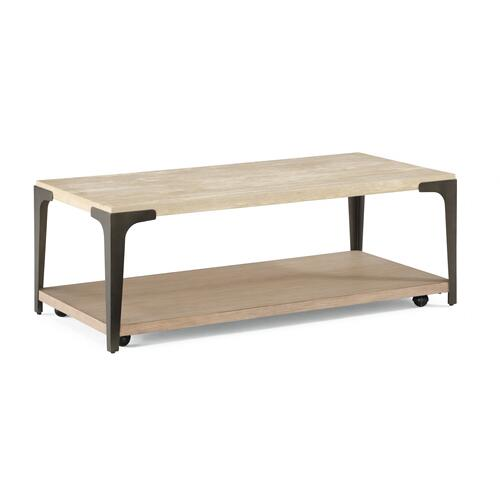 Omni Rectangular Coffee Table with Casters