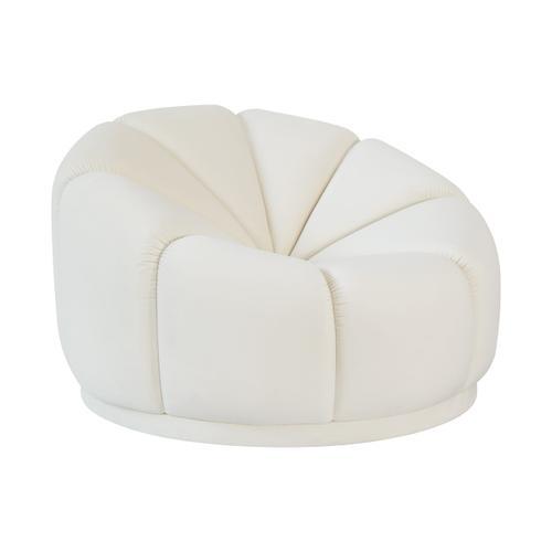 Tov Furniture - Marshmallow Cream Velvet Lounge Chair