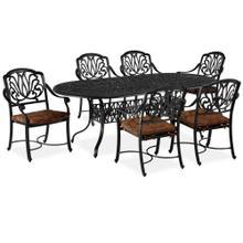See Details - 6658-348 Capri Gray 7 Piece Dining Set