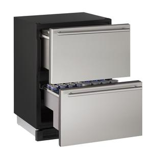 """U-Line24"""" Solid Refrigerator Drawers Stainless Solid Drawers"""