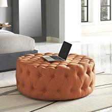 See Details - Amour Upholstered Fabric Ottoman in Orange