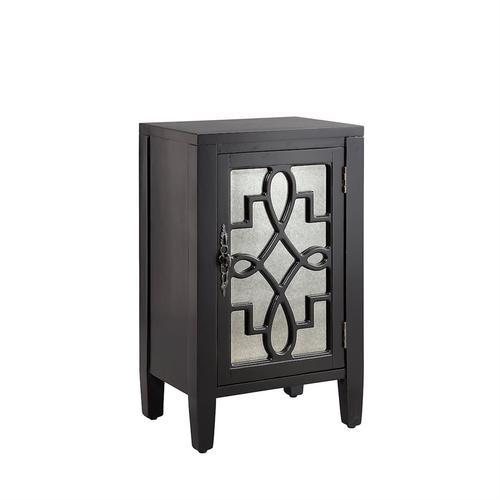 Leighton 1-door Cabinet In Black