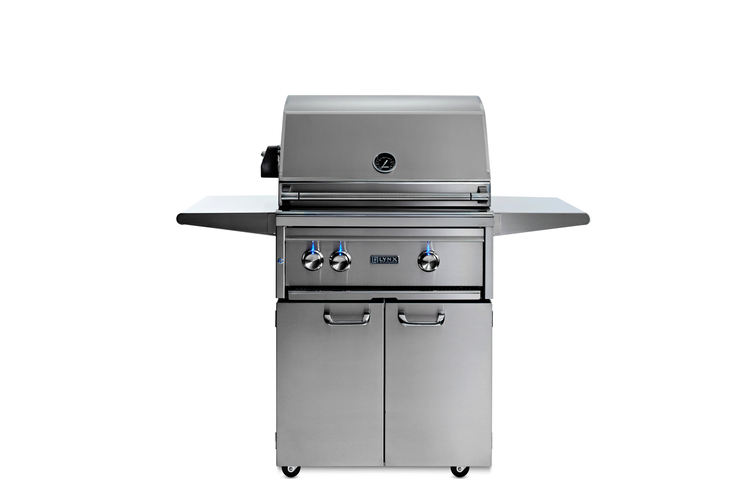 """Lynx27"""" Lynx Professional Freestanding Grill With 1 Trident™ And 1 Ceramic Burner And Rotisserie, Ng"""