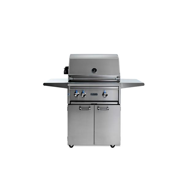 "27"" Lynx Professional Freestanding Grill with 1 Trident and 1 Ceramic Burner and Rotisserie, LP"