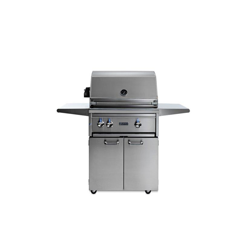"""27"""" Lynx Professional Freestanding Grill with 1 Trident™ and 1 Ceramic Burner and Rotisserie, NG"""