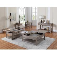 Emerald Home Nevada Sofa Table Wood W/tile Inserts Honey Amber T925-02