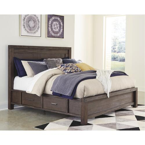 Dellbeck King Panel Bed With 4 Storage Drawers