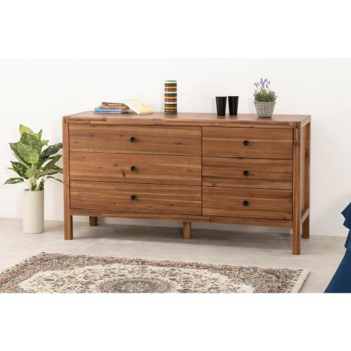 Sorrento Dresser 6 Drawers, Newton Brown