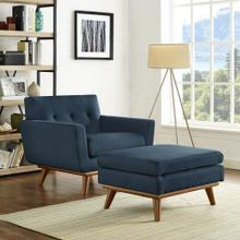 Engage 2 Piece Armchair and Ottoman in Azure
