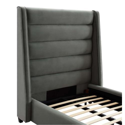 Tov Furniture - Koah Grey Velvet Bed in Twin