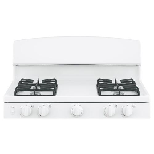 "GE 30"" Gas Freestanding Range with Broil Drawer White - JCGBS10DEMWW"
